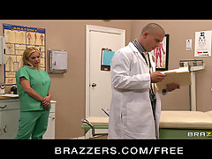 Brazzers Big-tit nurse Shyla Stylez fucks her boss at work. Slutty b..