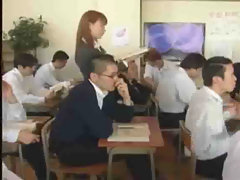A lovely Japanese female teacher-bukkake