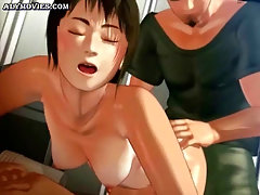 Animated babe gets mouth drilled
