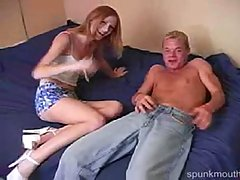 Allis0n Wyte Spunk Mouth. Pale and freckled redhead Allis0n Wyte get..