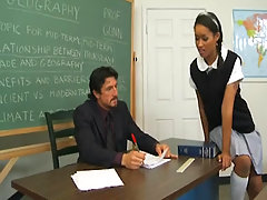 Hot Black schoolgirl banged by teacher