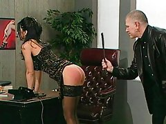 Office submissive slut spanked
