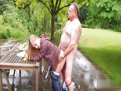 Grandpa love young blond
