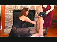 Femdoms Punish Their Slave