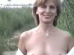 Nude mature in the