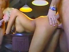 Horny Blonde needs 3 cock satisfaction gaping facial