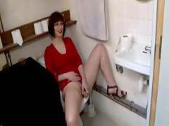 Lola brutally fucked in the toilet