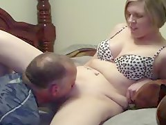 MILF wife cumming with the help of a tongue amp a