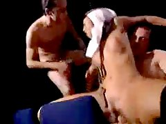German Nun fucks with Guys in the Cinema