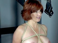 tits ass, bdsm, dungeon, mature, 3some, group-sex, red-bottom, whip, threesome, boobs, redhead