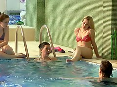 Relaxing mature women in a spa