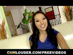 Hot Asa Akira fucks hard after a Interview