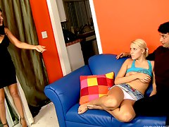babysitter 3some, teen, wife, husband, threesome