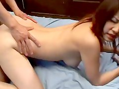Sexy natural Japanese tits in hardcore video