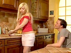 Young French housewife is cheating slut