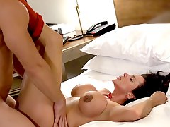 bedroom brunette, bed-sex, undressing, stripper, latin