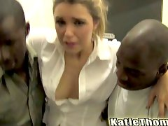 Katie thomas loves big black cock fucking