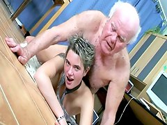 chicks office, mature, brunette, short-hair, beauty, old-man, hardcore, secretary, cute, babe, loves-fuck, grandpa