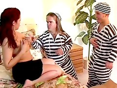 prison sucking, blowjob, 3some, hairy, jail, big-tits, nipples, fetish, threesome, midget, tits, pussy, milf, lick, boobs, pov-point-of-view, redhead, horny