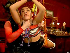 fucked hard in bondage on upper floor Maestro