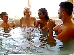 pornstar 4some, blonde, jacuzzi, foursome, asian, rich, game, group-sex, party, limousine, nude, milf