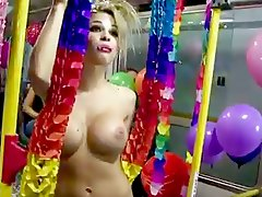 blonde party, girls, milf, bus, tits, big-tits, reality, boobs, posing, nude, pornstar