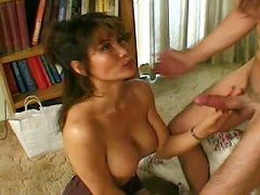 Asian oldie goes down on a hung guy